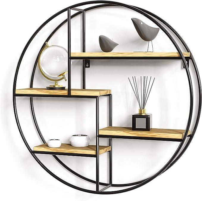 2498 opinioni per Gadgy ® Mensola da Muro Design l con4 Ripiani l Mensola Design l 100% Legno