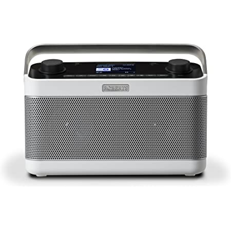 Roberts Radio Stream 218 White Internet Radio With Dab Bluetooth Spotify Wlan Digital Radio Home Cinema Tv Video