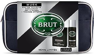 Brut–Neceser Musk Eau De Toilette 100ml + Desodorante 200ml + mini-gel de afeitado 75ml