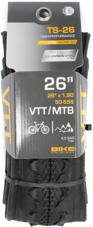 Bike Original Pneu VTT 26 x 1,90 tringles souples