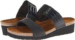Black Nubuck/Brushed Black Leather
