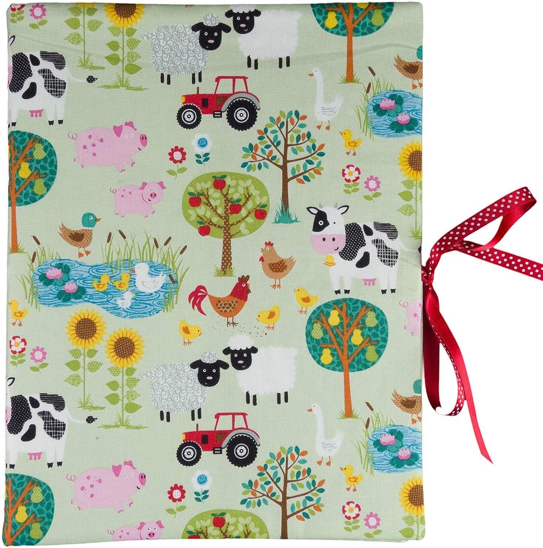 Bettina bruder - Sammelmappe DIN A4 A4 A4 - innen 30 Sichthüllen - Bauernhof Tiere grün bunt - innen Punkte B00U4W2TF8 | Spielzeug mit kindlichen Herzen herstellen  11cb15