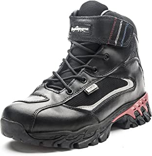 Men's Waterproof Leather Motorcycle Combat Ankle Boots Hiking Trekking Outdoor Boots