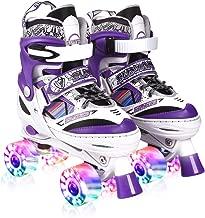Kuxuan Doodle Design Roller Skates Adjustable for Kids,with All Wheels Light up,Fun..