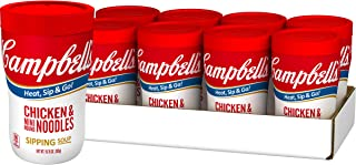 Campbell's Soup on the Go Chicken & Mini Round Noodles Soup, 10.75 Oz. Cup (Pack of 8)