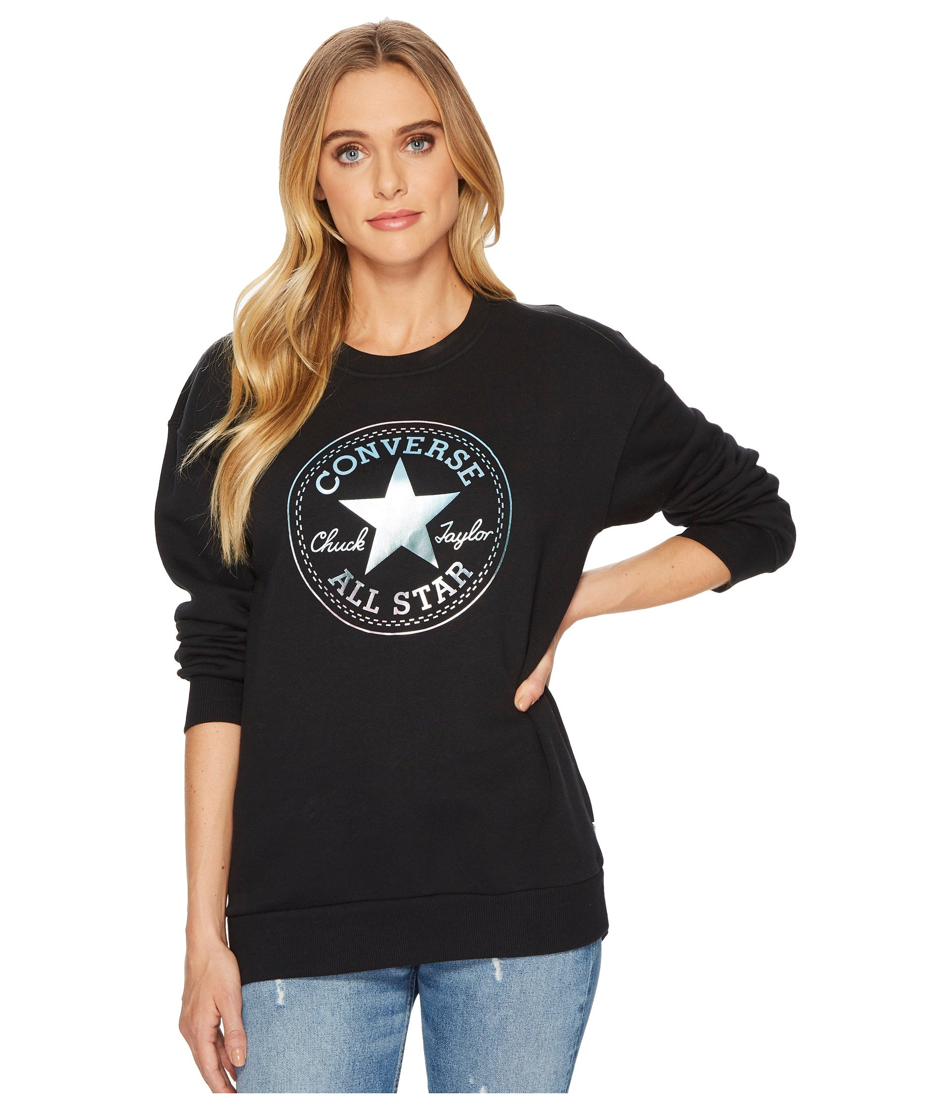 Buzo o Chaqueta para Mujer Converse Shine Pack Graphic Oversized Crew  + Converse en VeoyCompro.net