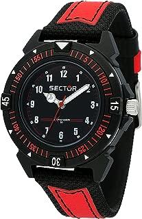 Men's Expander 90 Analog-Quartz Leather Strap, Black, 18 Casual Watch (Model: R3251197060)