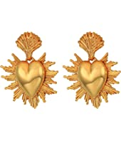 Oscar de la Renta - Sacred Heart C Earrings