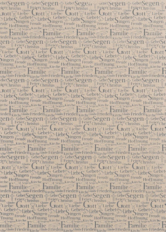 Rössler Papier - - Kreativblatt DIN A4-Komm Konf -Schrift -HF silb, taupe met. - Liefermenge  50 Stück B07CX5T3VC    | Große Ausverkauf