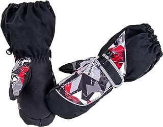 Azarxis Children's Winter Waterproof Ski Mittens Kids Warm Snow Gloves for 3-12 Years Old Boys & Girls