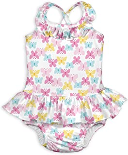 i play. Baby Girls One Piece Swimsuit with Built in Reusable Swim Diaper