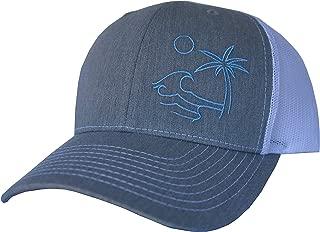 ThreadBound Outdoor Trucker Hat Snapback - Surf Beach Design
