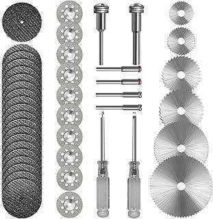 Cutting Wheel Set 36pcs for Rotary Tool, HSS Circular Saw Blades 6pcs, Resin Cutting Discs 20pcs, 545 Diamond Cutting Whee...