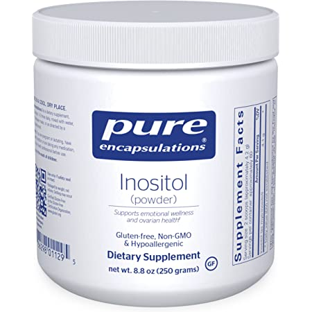 Pure Encapsulations Inositol (Powder) | Supplement to Support, Energy, Nervous System, and Ovarian Function* | 8.8 Ounces
