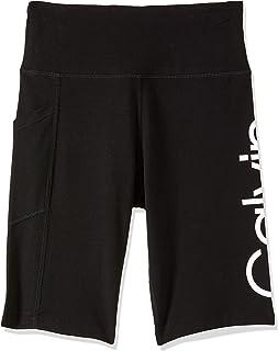 Calvin Klein Women's Logo High Waist Bike Short One Pocket