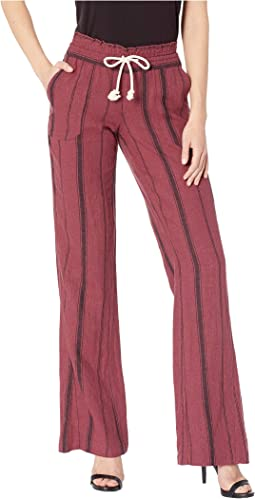 Oxblood Red/Tea Party Stripe