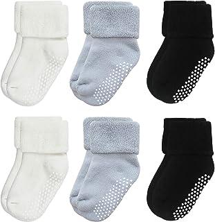 VWU Calzini Calze Invernali Caldo Cotone taglio basso Bambini e Neonati Confezione da 6/8 Paia