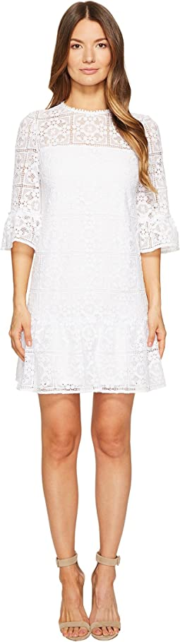 Kate Spade New York Lace Flounce Shift Dress