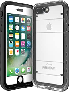 Pelican C24040-001A-BKCL Cell Phone Case for iPhone 7 Plus - Black/Clear