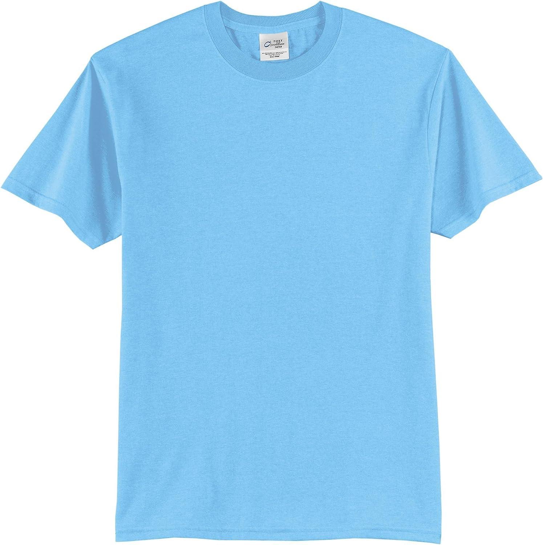 Port & Company Tall 50/50 Cotton/Poly T-Shirts>4XLT Aquatic Blue PC55T