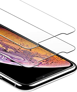 Anker GlassGuard Screen Protector for iPhone X/iPhone Xs/iPhone 11 Pro, 5.8 Inch with Alignment Frame for Easy, Bubble-Free Installation and DoubleDefence Tempered Glass [Case Friendly] [2-Pack]