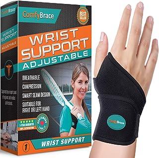ComfyBrace-Premium Lined Wrist support /Wrist Strap/Carpal Tunnel Wrist Brace/ Arthritis..