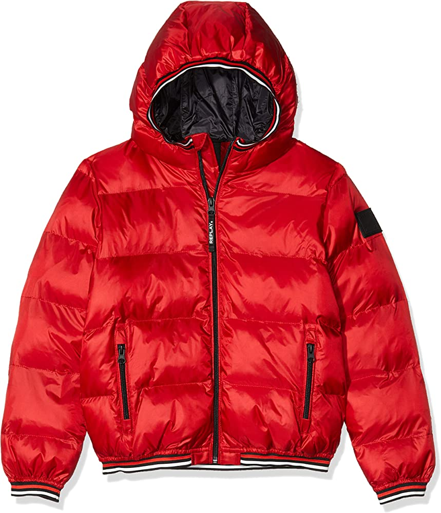 Replay,giacca,giubotto imbottito per bambino-ragazzo con cappuccio,100% poliammide SB8158.050.83406