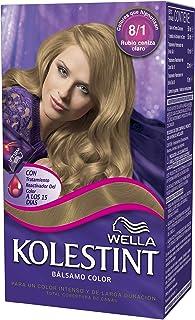 Wella Kolestint Tinte De Cabello Kit, Tono 81 Rubio Cenizo Claro 210 g