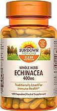 Sundown Echinacea Herbal Supplement 400mg Capsules for Immune Support, Non-GMO, Gluten-Free, Dairy-Free, 100 Count