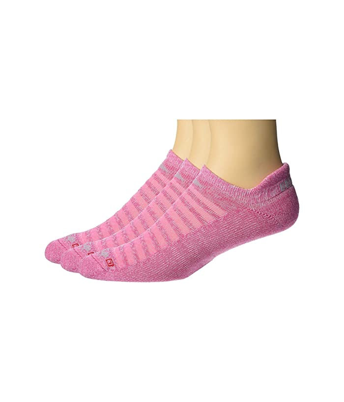 Drymax Sport  Running Lite Mesh No Show Tab 3-Pack (Pink Heathered) No Show Socks Shoes