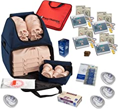 CPR Training Kit w Prestan Ultralite Manikins, WNL AED Trainers, More by MCR Medical