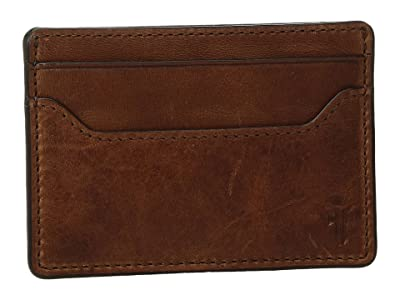Frye Logan Money Clip Card Case (Cognac Antique Pull-Up) Credit card Wallet