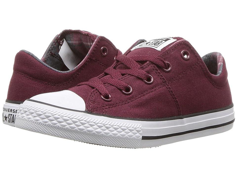 Converse Kids Chuck Taylor(r) All Star(r) Madison Ox (Little Kid/Big Kid) (Burgundy/Burgundy/White) Girls Shoes