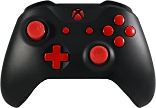 Xbox One S Modded Rapid Fire Controller/Red LEDs/Custom Buttons/Drop Shot/Jump Shot/Quick Scope for All Games X (Red Buttons)