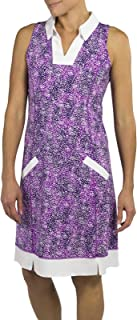 Jofit Wide Placket Golf Dress (with Undershorts)- Speckle Print