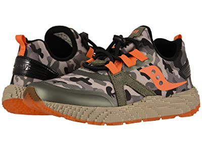 Saucony Kids Voxel 9000 (Little Kid/Big Kid) (Camo Orange) Boys Shoes