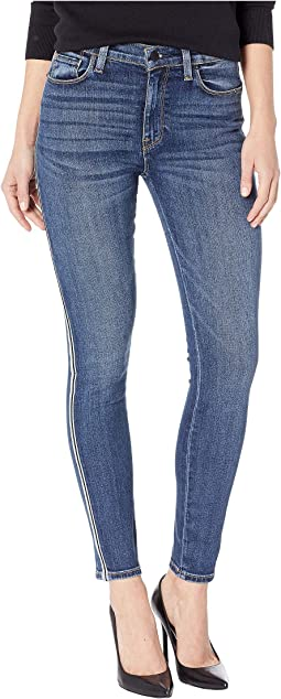 Barbara High-Rise Ankle with Side Taping Skinny Jeans in Hypnotic