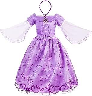 Little Girls Princess Costume Mesh Sleeve Party Dress