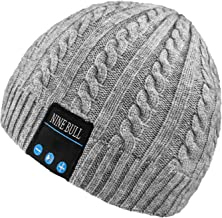 nine bull Bluetooth Beanie Hat, HD Stereo Bluetooth Headphones Wireless Smart Beanie Headset Winter Music Knit Speaker Hat Speakerphone Cap, Built-in Mic