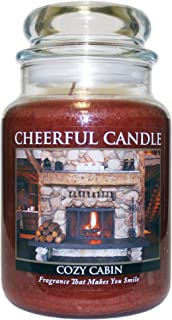 A Cheerful Giver Cozy Cabin Jar Candle, 24-Ounce