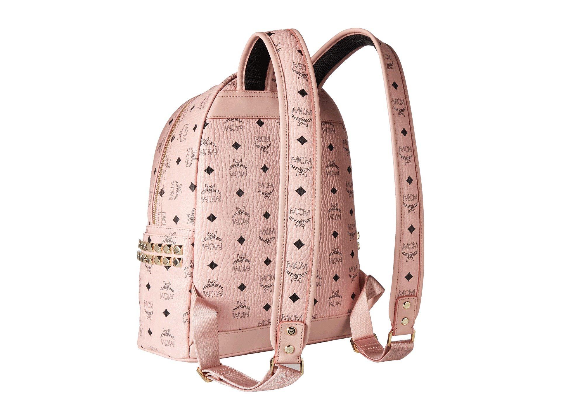 stud Side Pink Mcm Stark Soft Small Backpack Medium 7Tqfxw