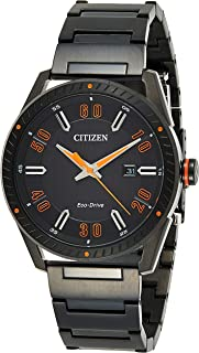 Citizen BM6995-51E Men`s Stainless Steel Black Bracelet Band Black Dial Smart Watch