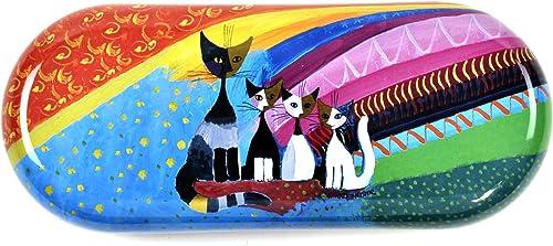 Fridolin 18716 Étui à Lunettes Rosina Wachtmeister-Under The Rainbow en métal, Multicolore, 16x6,6x2,8 cm