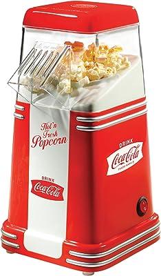 Nostalgia RHP310COKE Coca-Cola 8-Cup Hot Air Popcorn Maker