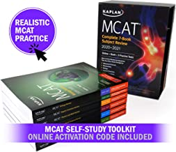 MCAT Self-Study Toolkit 2020-2021: Complete 7-Book Subject Review + 6 Practice Tests (3 tests require activation code) + Adaptive Qbank (Kaplan Test Prep)