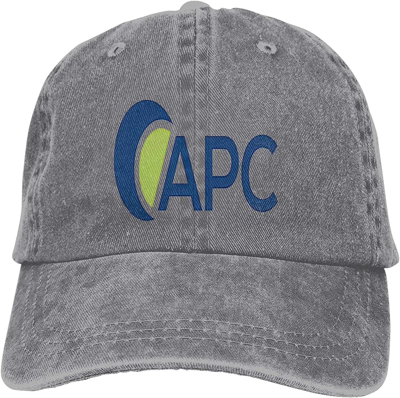 A-P-C Logo Unisex Cowboy Hat Trucker Hats Adjustable Baseball Cap Snapback Hats Peaked Cap Casquettes Hat Dad Hat Gray
