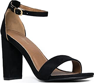 Strappy Chunky Block High Heel - Formal, Wedding, Party...