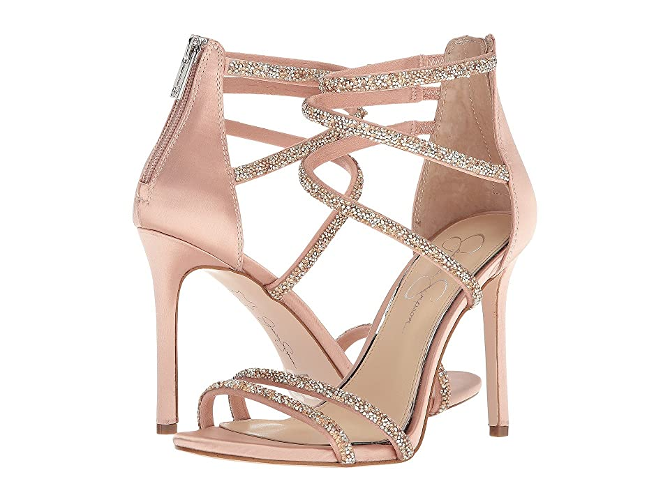 Jessica Simpson Jamalee (Nude Blush Crystal Satin) Women