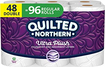 Quilted Northern Ultra Plush Toilet Paper, 48 Double Rolls, 48 = 96 Regular Rolls, 3 Ply..
