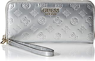GUESS womens Peony Shine Large Zip Around Wallet